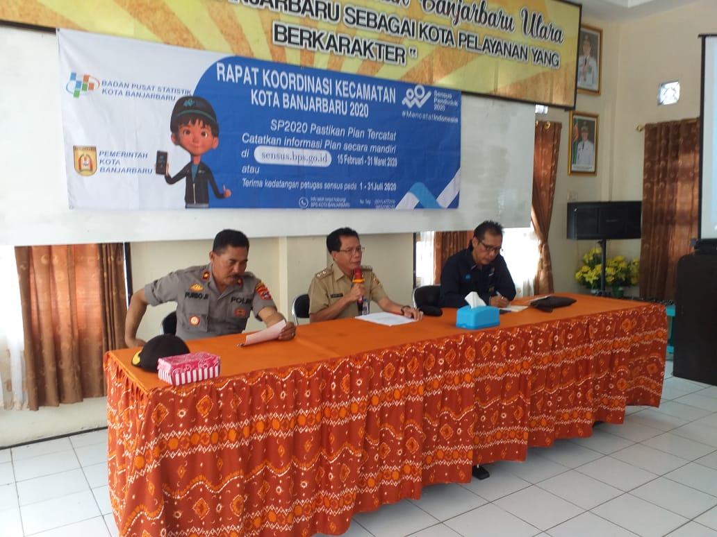 Rapat Koordinasi Kecamatan SP2020 Kota Banjarbaru