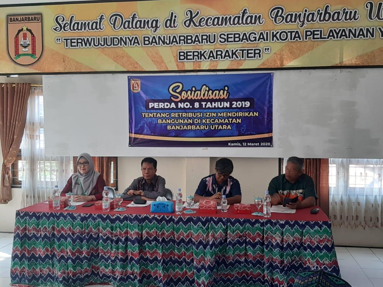 Sosialisasi Peraturan Daerah Kota Banjarbaru Nomor 8 Tahun 2019 Tentang Retribusi Izin Mendirikan Bangunan
