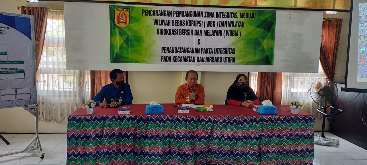 Deklarasi Pencanangan Pembangunan Zona Integritas di Lingkungan Kecamatan Banjarbaru Utara Kota Banjarbaru